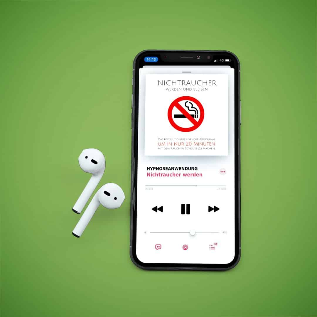 MOCKUP Iphone mit Airpods 4